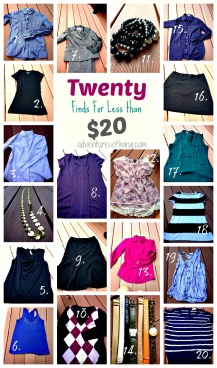 20 items less than 20